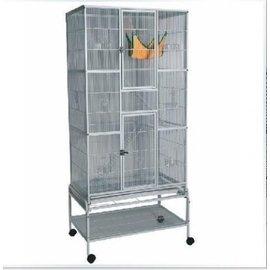 黑色大型鸚鵡籠 群鳥籠 鳥籠大號 繁殖籠 可外掛繁殖箱