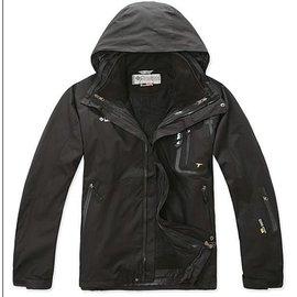 1180元∼原單 防水透氣保暖GORE TEX 男款兩件式防寒外套 黑色101 戶外休閒