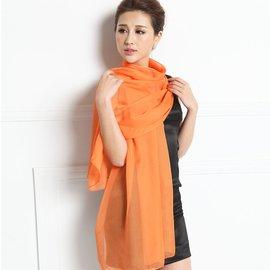 蘭若詩正品100^%桑蠶絲絲巾 女士 超大純色真絲絲巾圍巾披肩