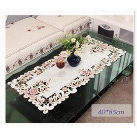 MONEY  ^#39 S HOUSE 玫瑰繡花桌巾 桌布 40^~85
