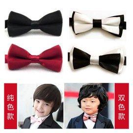 高檔兒童領結 男童寶寶純色領結 禮服花童演出表演英倫小領結