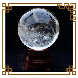 天然水晶天然白水晶球擺件宅闢邪風水家居裝飾做車掛送底座