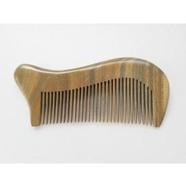 Q比小店~天然黃金玉檀木梳 綠檀木梳頭皮按摩頭皮保健原木梳 製品 綠檀梳AH~40