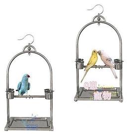 卡通專場^~不�袗�鸚鵡站架 鳥架 鳥籠 亞歷牡丹中小型鸚鵡架 掛立兩用