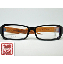 正品吉野太郎復古手造框架 木質九十年代男女中性近視眼鏡框