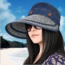 春夏女帽超大簷兩用女士大沿草帽遮陽帽子海邊沙灘防曬帽涼帽 棒球帽網帽漁夫帽遮陽帽寬緣荷葉帽