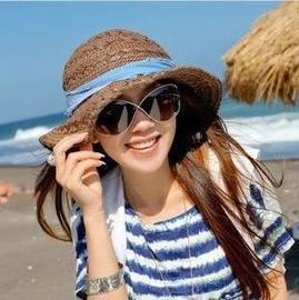 夏天嗆口辣椒 草帽遮陽帽女士大簷草編旅遊折疊太陽能帽子 棒球帽網帽漁夫帽遮陽帽寬緣荷葉帽鴨