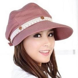 女士帽子騎車遮陽帽子女帽夏天 涼帽防紫外線太陽帽瑩彩兒 棒球帽網帽漁夫帽遮陽帽寬緣荷葉帽鴨