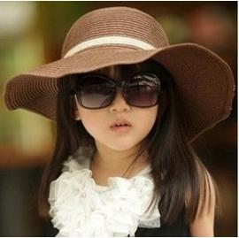 惡魔帽兒童女童夏天 遮陽帽海邊草帽沙灘帽可折疊帽子 直銷 棒球帽網帽漁夫帽遮陽帽寬緣荷葉帽