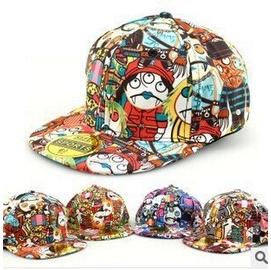 韓國版帽子吸血鬼可愛塗鴨圖案嘻哈街舞兒童鴨舌帽棒球帽子平沿帽 棒球帽網帽漁夫帽遮陽帽寬緣荷