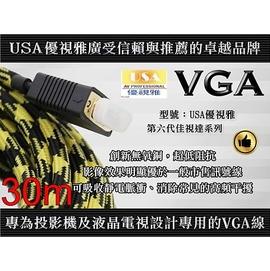 行家 USA優視雅VGA~30 VGA訊號線 RGB訊號線 VGA線 公對公頭 30米長