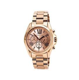 可 MICHAEL KORS 手錶 Bradshaw 43mm 玫瑰金 三眼 計時 女錶