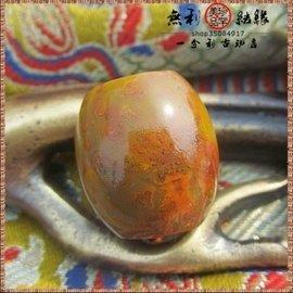 天然原石24mm極品紅縞南紅瑪瑙珠子桶珠天珠手串手鏈散珠吊墜E134