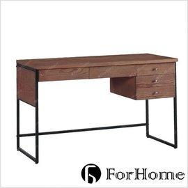 ^~ ForHome ^~ GC~6305 丹麥 北歐風 Mekel 梅克爾 4尺胡桃書桌