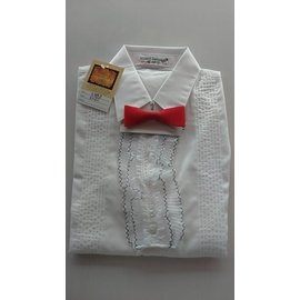 MAY COLLECTION 花童純白襯衫 ^(短袖^) ^~ 附領結 尺寸有:100 ^