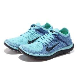 ~潮鞋GO~Nike Free Flyknit 4.0 赤足 男鞋 編織 水藍 深藍 黑勾