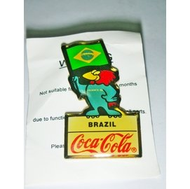 aaL網皮S. 1998年世界杯足球賽巴西隊吉祥物~公雞Footix~福蒂克斯~ 可樂^(