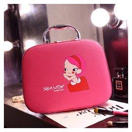 海外直購 gt 韓國正品化妝包(小號)大容量 化妝箱手提 旅行收納包潮可愛帶鏡子