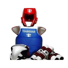 韓國 天權正品加厚型跆拳道護具五件套一次定型頭盔送護具包