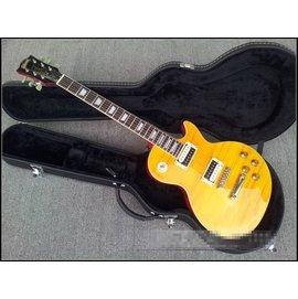 全網銷量第一!!吉普森Gibson同款 Slash簽名款 前黃後紅色 LP電吉他 小喇叭簽