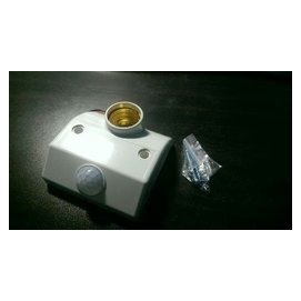 可接E27 LED燈 110V螺旋座感應開關 可裝省電燈泡 自動感應 紅外線人體感應器 感