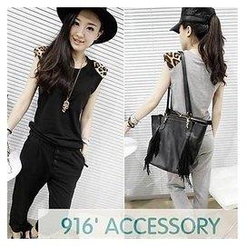 916  accessoryn916   accessory歐洲站女裝秋裝 紋兩件套 套裝