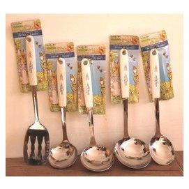 韓國 彼得兔 不鏽鋼湯勺 炒菜鍋鏟 飯勺料理勺鏤空鏟 勺鏟