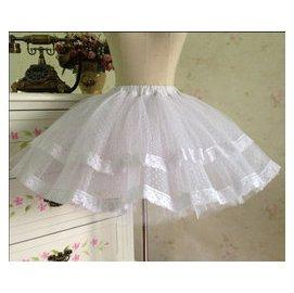 定制 公主的裁縫lolita洋裝 硬紗裙撐 襯裙 蕾絲蓬蓬半身裙
