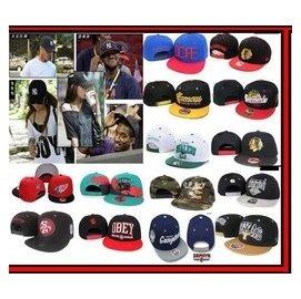 美國大聯盟MLB棒球帽 OBEY adidas帽子 NBA hiphop調節帽嘻哈帽平沿N