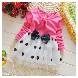 2015寶寶 女 嬰幼兒童公主連衣裙子純棉小童蓬蓬長袖裙