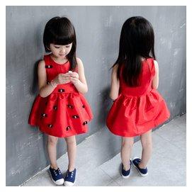 女童夏裝4兒童公主裙子5小童6女孩7歲背心連衣裙3長裙2小寶寶衣服