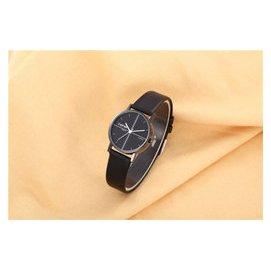 女士簡約 國男女士情侶款防水真皮錶帶中學生手錶 潮流手錶