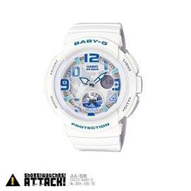CASIO BABY~G BGA~190~7B 雙顯 女 休閒 少女時代 電子錶 白藍 潤
