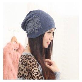潮春夏天包頭帽心箭鑽薄款堆堆頭巾帽子女 套頭全棉月子帽