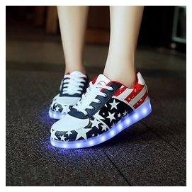七彩閃光燈夜光鞋LED發光鞋USB充電男女鞋熒光鞋 潮流 板鞋