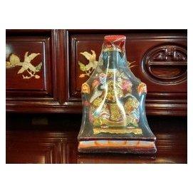 ~靜福緣~ 樟木雕刻安金 3寸6小神尊~黑面媽祖~天上聖母 中國女海神神女龍女 金尊木雕神