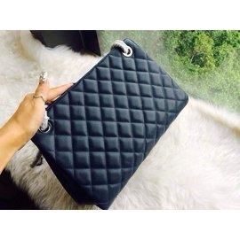 CHANEL女士 菱格荔枝紋28cm單肩包 側背包