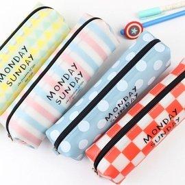 韓國幾何家族方形筆袋 文具袋^#NI010119