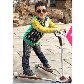 米藍圖 兒童蛙式滑板車滑行車 三輪玩具 滑滑車包郵四輪扭扭搖擺