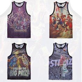 潮流 透氣背心 HipHop嘻哈 男 寬鬆 健身衣 網眼無袖籃球服 科比 NBA