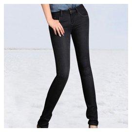 最最完美性價比 鼕季 女款加絨修身長褲牛仔褲靴褲