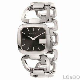 美國 GUCCI古弛手表腕表 銀色不鏽鋼表帶 YA125407 女表