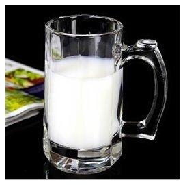 宜人 玻璃杯水杯茶杯扎啤杯 牛奶杯啤杯 帶把杯子 耐熱加厚