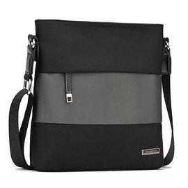 ?衣見鍾情?fgxb0208 男士拼接元素單肩包斜跨包商務休閒手提包潮款手拎包型男側背包