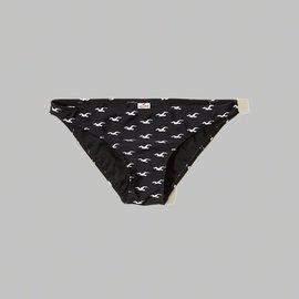 ~HOLLISTER Co.~~HCO~HC女款比基尼泳褲三角滿版白鷗黑 F0916060