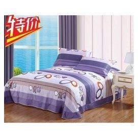 全棉床單單件 純棉 床上用品斜紋卡通圖2.0床單品學生單人床罩
