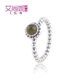 歐潘多拉12月份生日石女戒指 七月瑪瑙石925純銀戒指