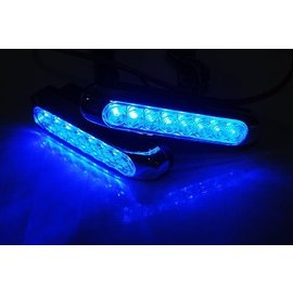 飛馳車部品^~本月 140 組小型超高輝度LED 日行燈 晝行燈 白天燈 倒車輔助燈^(藍