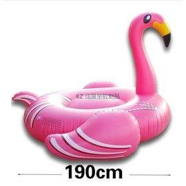 充氣獨角獸天馬充氣天鵝火烈鳥坐騎充氣西瓜檸檬浮排(190CM桔色火烈鳥)