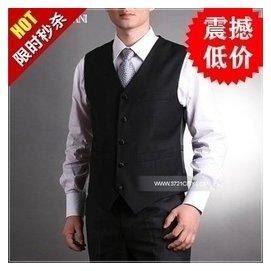 西裝馬甲 男春夏 羊毛修身背心西服百搭 男士商務正裝馬夾